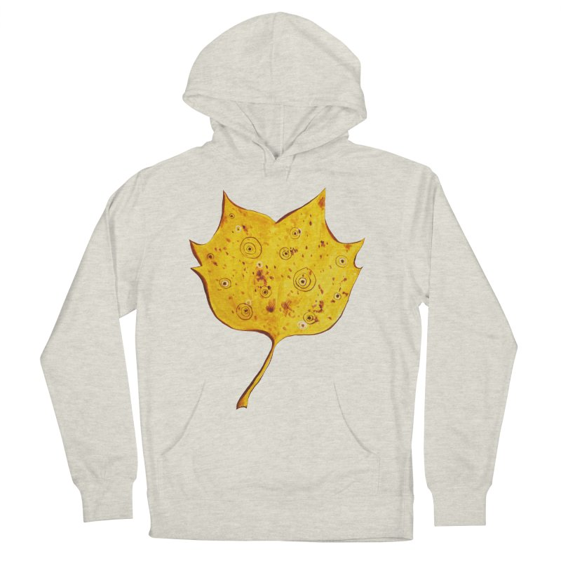 Fancy Yellow Autumn Leaf Men's French Terry Pullover Hoody by Boriana's Artist Shop