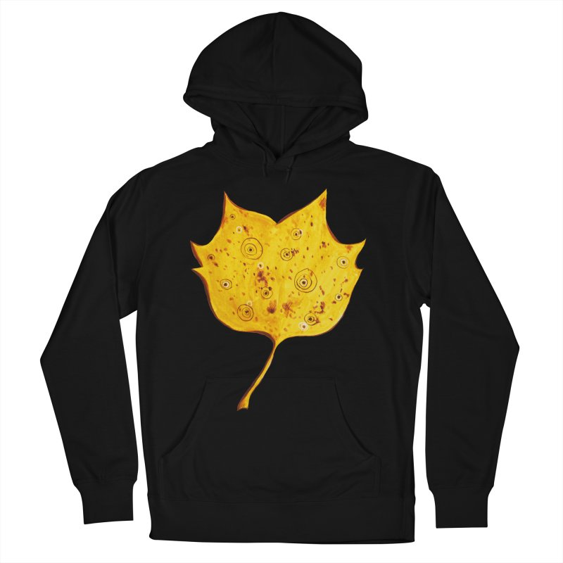 Fancy Yellow Autumn Leaf Men's Pullover Hoody by Boriana's Artist Shop