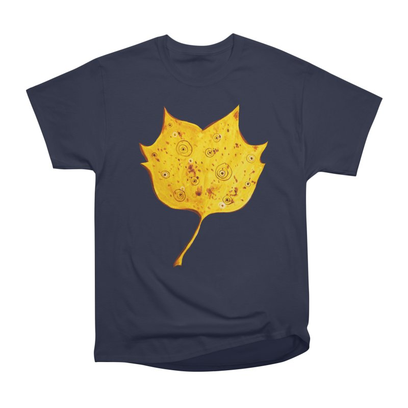 Fancy Yellow Autumn Leaf Men's  by Boriana's Artist Shop