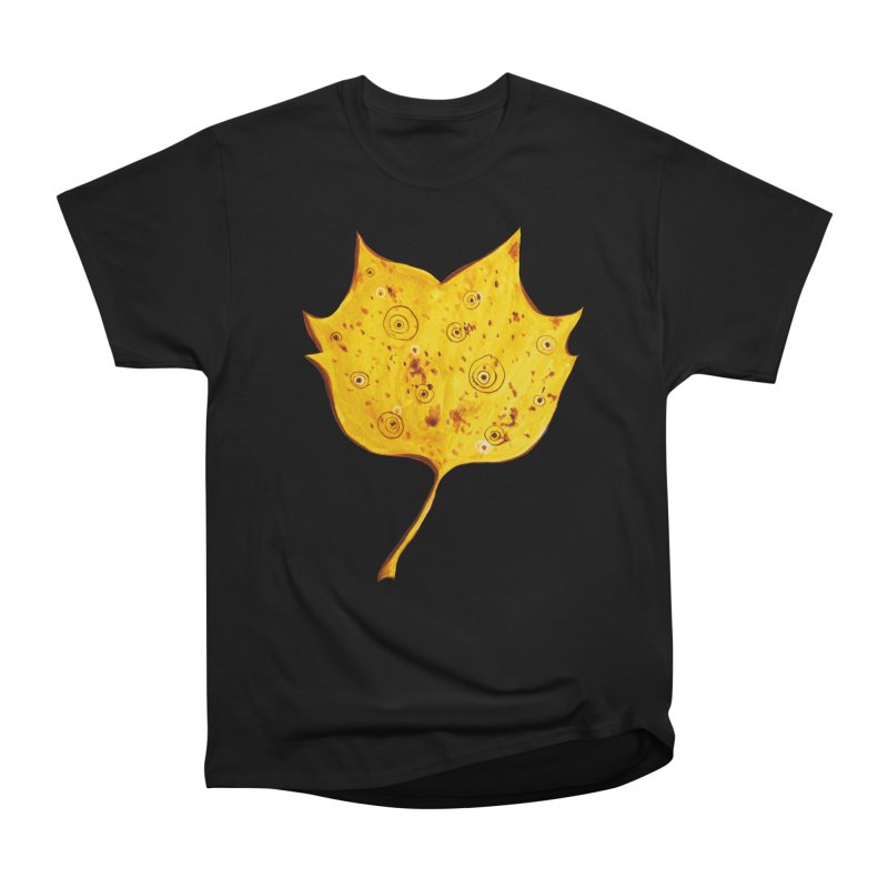 Fancy Yellow Autumn Leaf Men's Classic T-Shirt by Boriana's Artist Shop