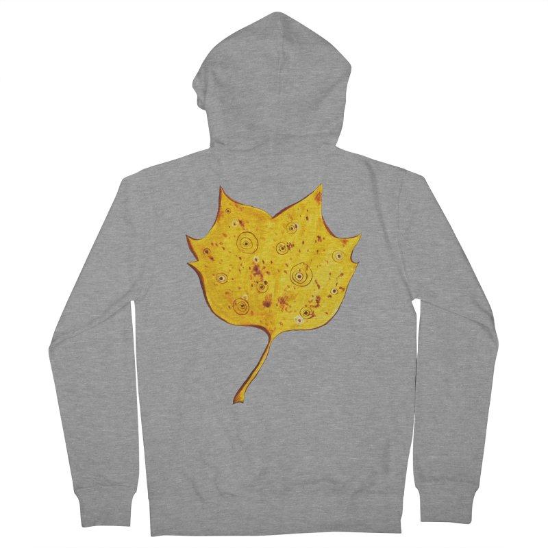 Fancy Yellow Autumn Leaf Women's Zip-Up Hoody by Boriana's Artist Shop
