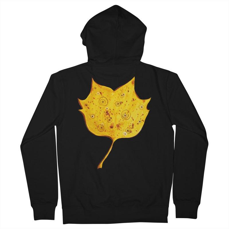 Fancy Yellow Autumn Leaf Men's Zip-Up Hoody by Boriana's Artist Shop