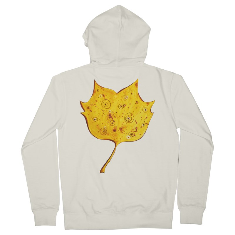 Fancy Yellow Autumn Leaf Men's French Terry Zip-Up Hoody by Boriana's Artist Shop