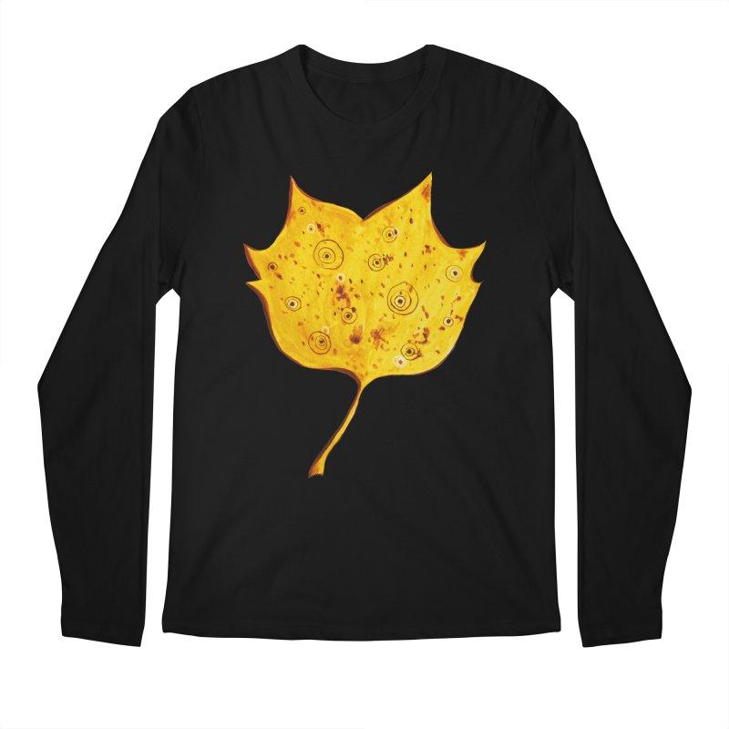 Fancy Yellow Autumn Leaf Men's Regular Longsleeve T-Shirt by Boriana's Artist Shop