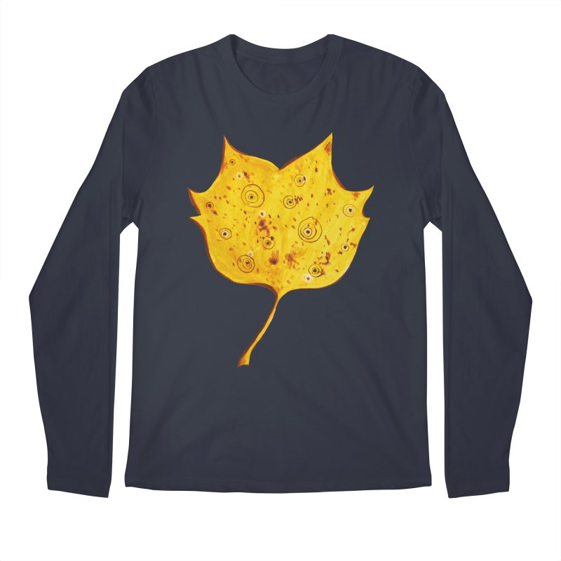 Fancy Yellow Autumn Leaf Men's Longsleeve T-Shirt by Boriana's Artist Shop