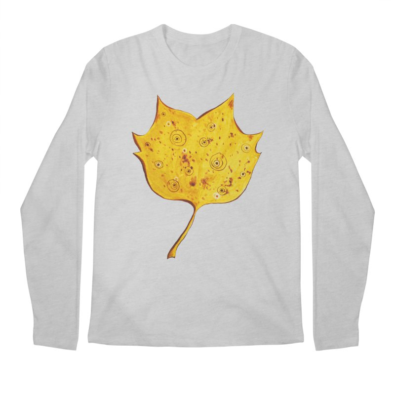 Fancy Yellow Autumn Leaf Men's Regular Longsleeve T-Shirt by Boriana's Artist Shop