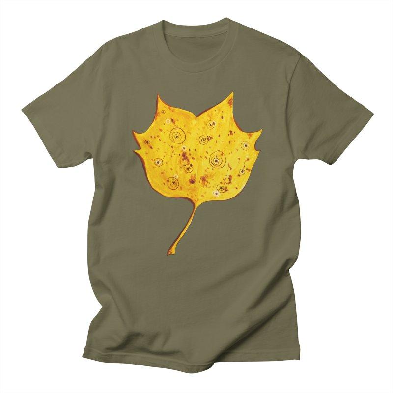 Fancy Yellow Autumn Leaf Women's Unisex T-Shirt by Boriana's Artist Shop
