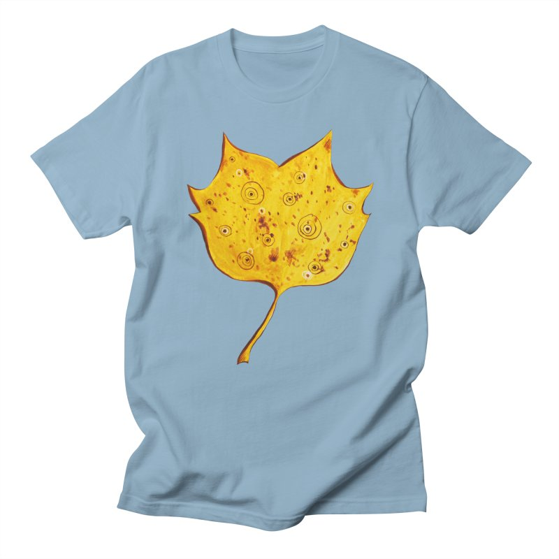 Fancy Yellow Autumn Leaf Men's T-Shirt by Boriana's Artist Shop