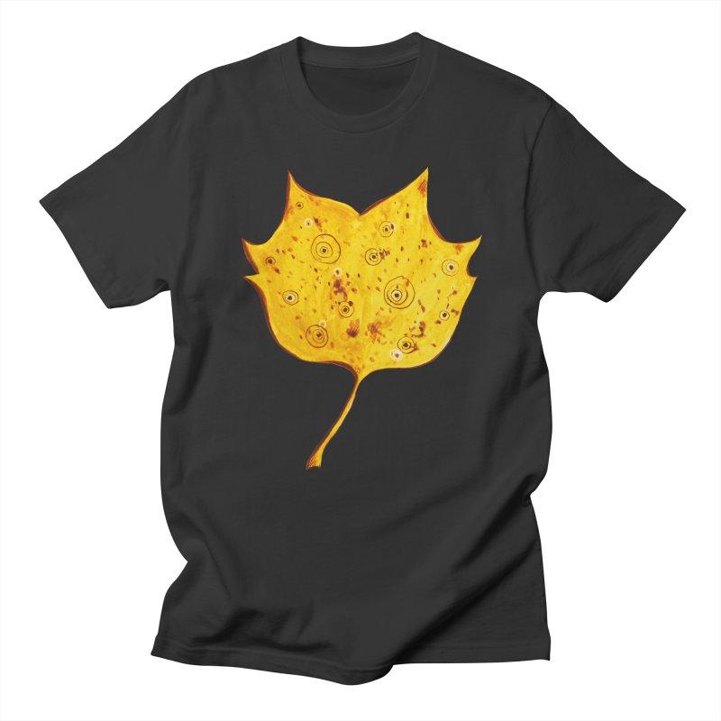Fancy Yellow Autumn Leaf Women's Regular Unisex T-Shirt by Boriana's Artist Shop