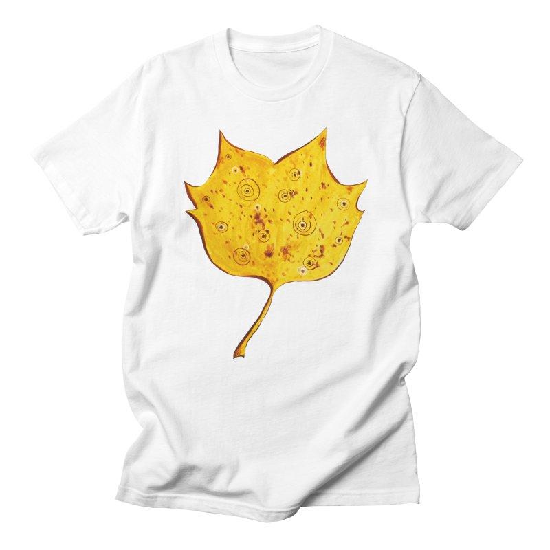 Fancy Yellow Autumn Leaf Men's T-Shirt by Boriana's Artist Shop