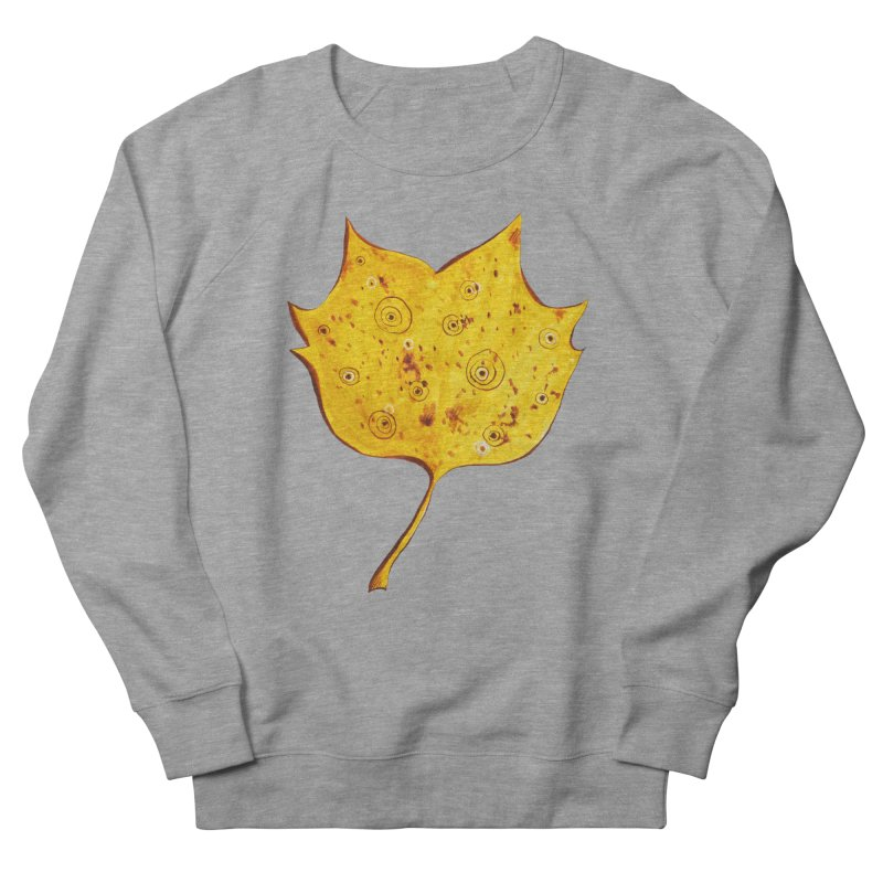 Fancy Yellow Autumn Leaf Women's Sweatshirt by Boriana's Artist Shop