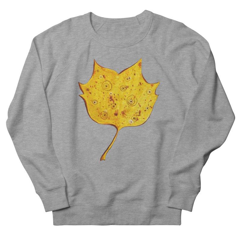 Fancy Yellow Autumn Leaf Men's French Terry Sweatshirt by Boriana's Artist Shop