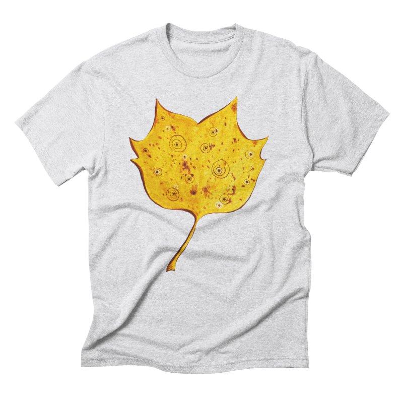 Fancy Yellow Autumn Leaf Men's Triblend T-Shirt by Boriana's Artist Shop