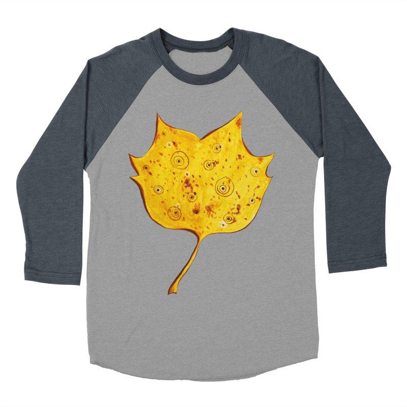 Fancy Yellow Autumn Leaf Men's Baseball Triblend T-Shirt by Boriana's Artist Shop