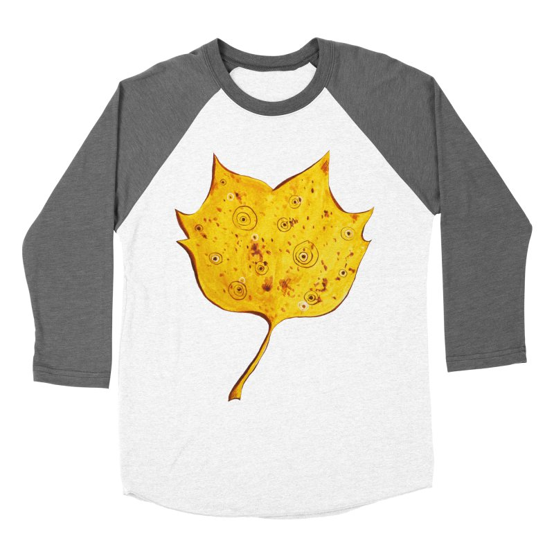 Fancy Yellow Autumn Leaf Men's Baseball Triblend T-Shirt by Boriana's Artist Shop