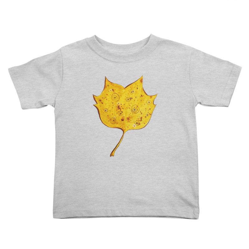 Fancy Yellow Autumn Leaf Kids Toddler T-Shirt by Boriana's Artist Shop
