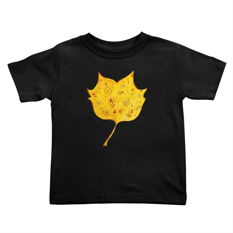 Fancy Yellow Autumn Leaf Kids Toddler T-Shirt by Boriana's Artist Shop