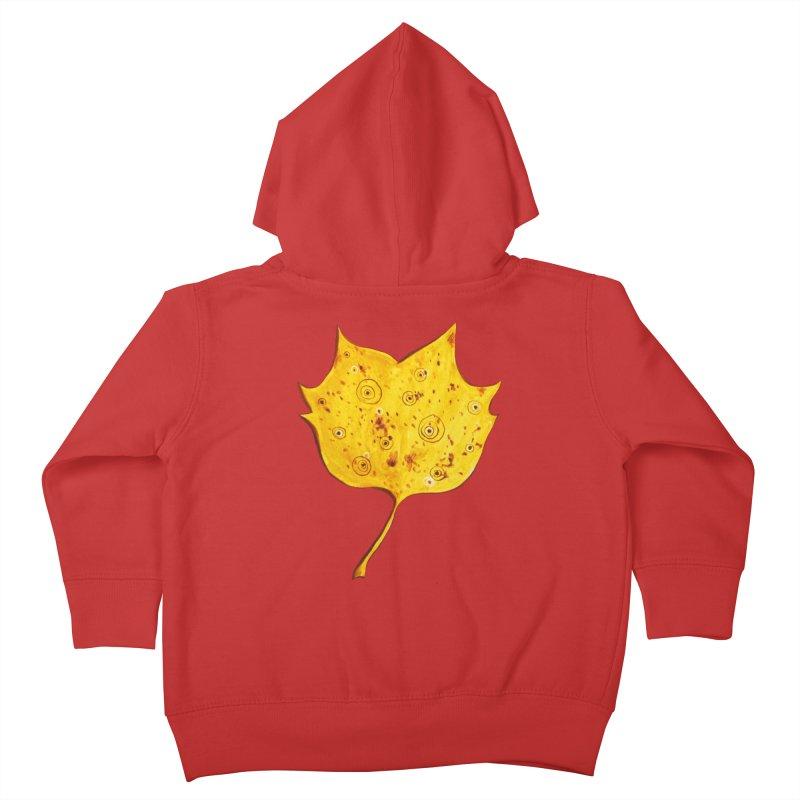 Fancy Yellow Autumn Leaf Kids Toddler Zip-Up Hoody by Boriana's Artist Shop