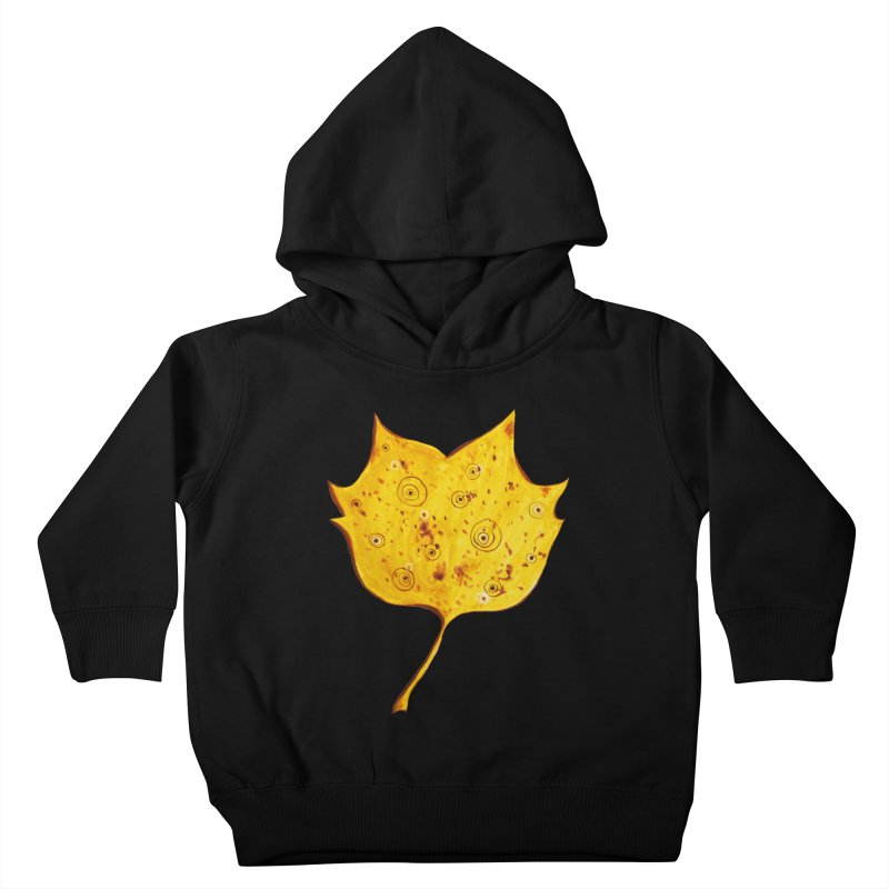 Fancy Yellow Autumn Leaf Kids Toddler Pullover Hoody by Boriana's Artist Shop