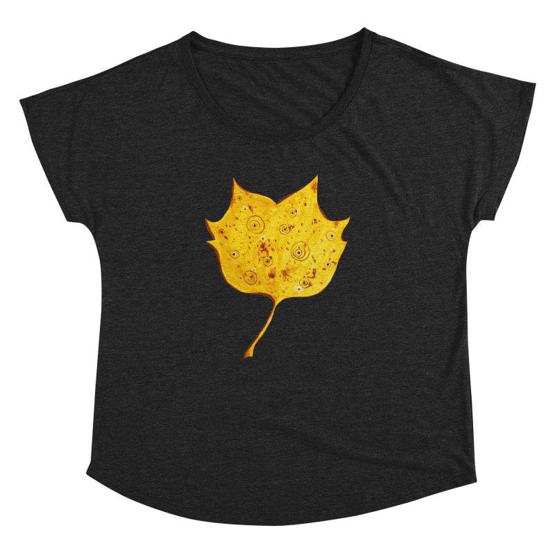 Fancy Yellow Autumn Leaf Women's Dolman by Boriana's Artist Shop