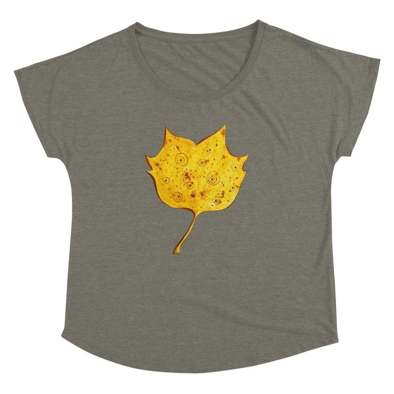 Fancy Yellow Autumn Leaf Women's Dolman by Boriana's Artist Shop