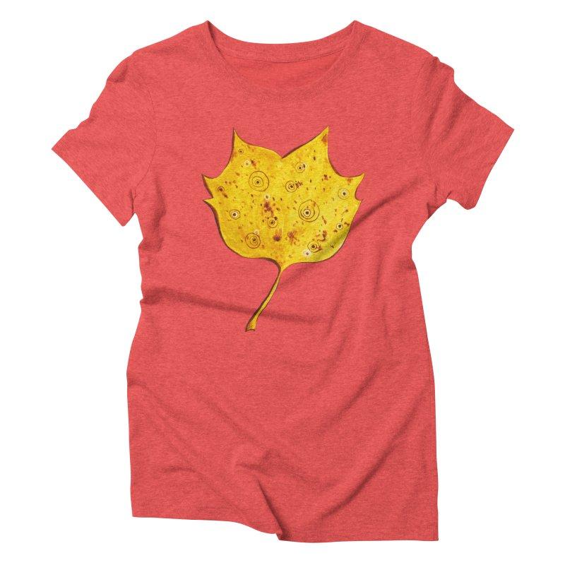Fancy Yellow Autumn Leaf Women's Triblend T-Shirt by Boriana's Artist Shop