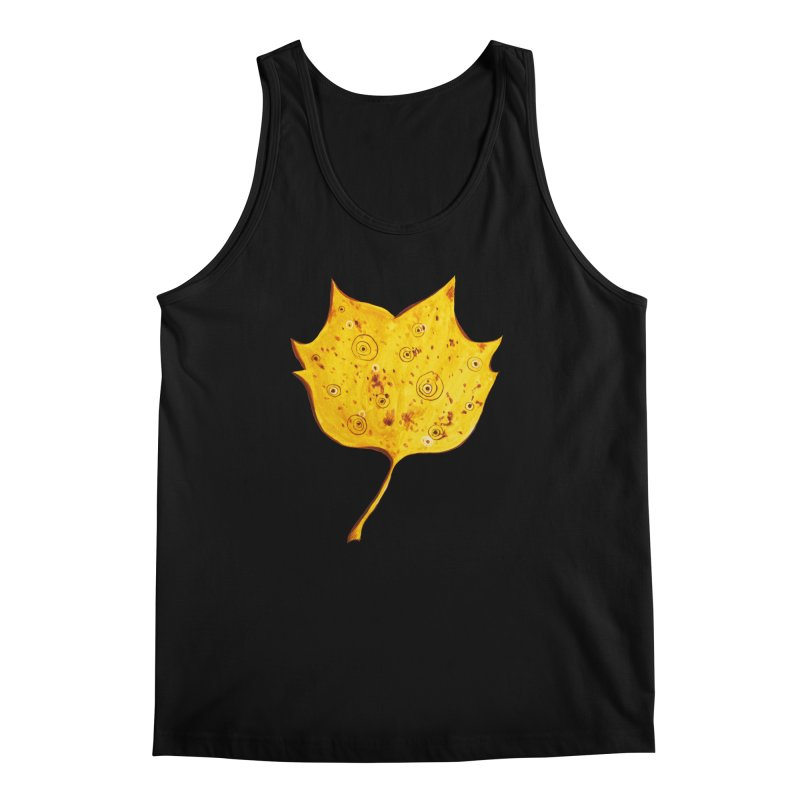 Fancy Yellow Autumn Leaf Men's Tank by Boriana's Artist Shop