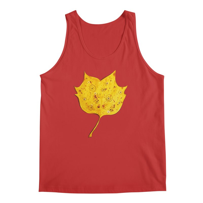 Fancy Yellow Autumn Leaf Men's Regular Tank by Boriana's Artist Shop