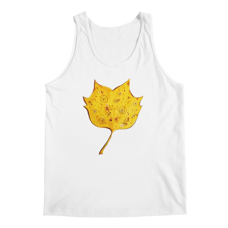 Fancy Yellow Autumn Leaf Men's Regular Tank by Boriana's Artist Shop