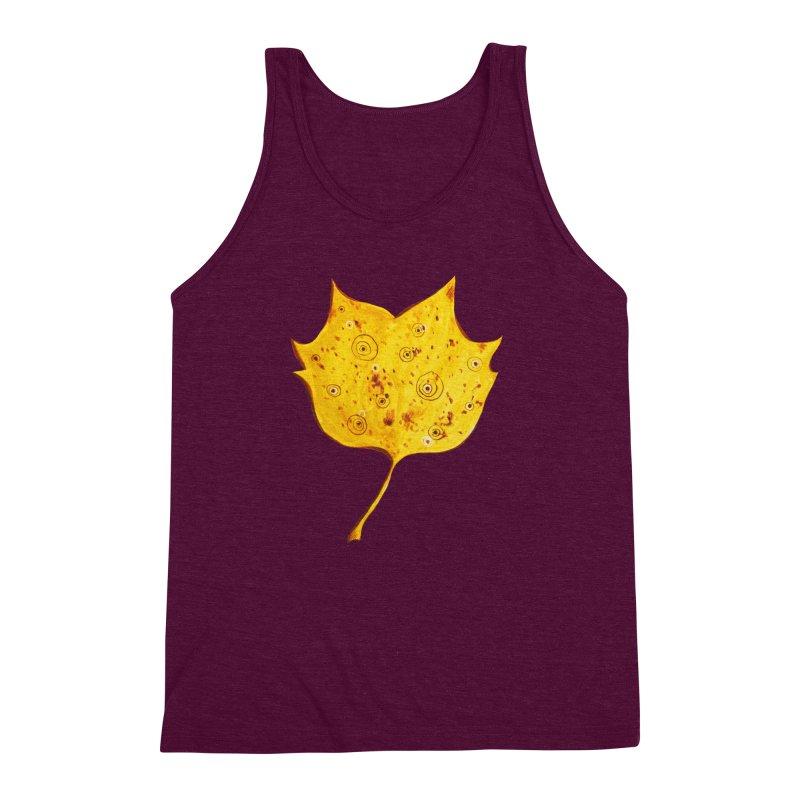 Fancy Yellow Autumn Leaf Men's  by Boriana's Artist Shop