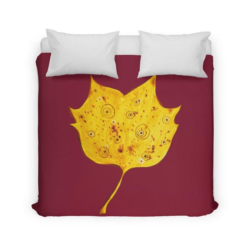 Fancy Yellow Autumn Leaf Home Duvet by Boriana's Artist Shop