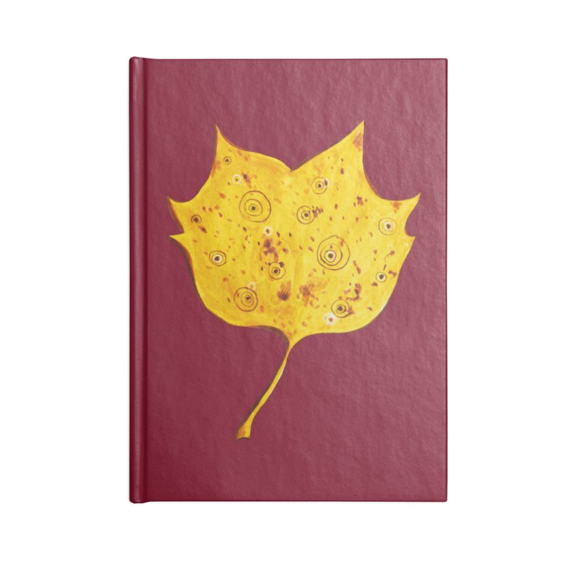 Fancy Yellow Autumn Leaf Accessories Notebook by Boriana's Artist Shop