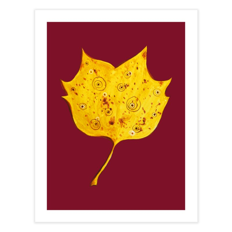 Fancy Yellow Autumn Leaf Home Fine Art Print by Boriana's Artist Shop