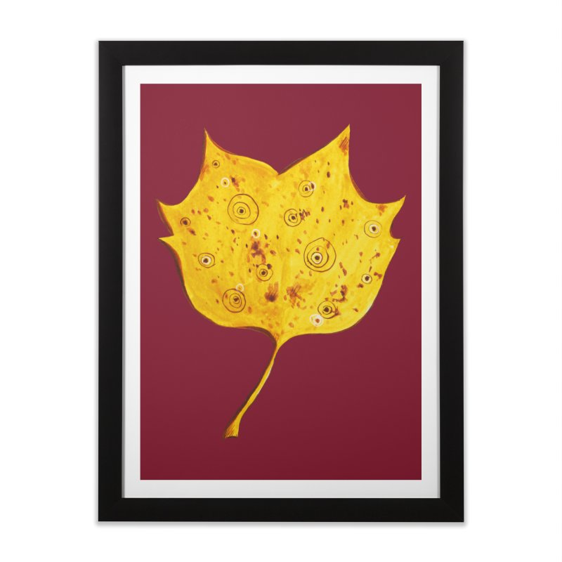 Fancy Yellow Autumn Leaf Home Framed Fine Art Print by Boriana's Artist Shop