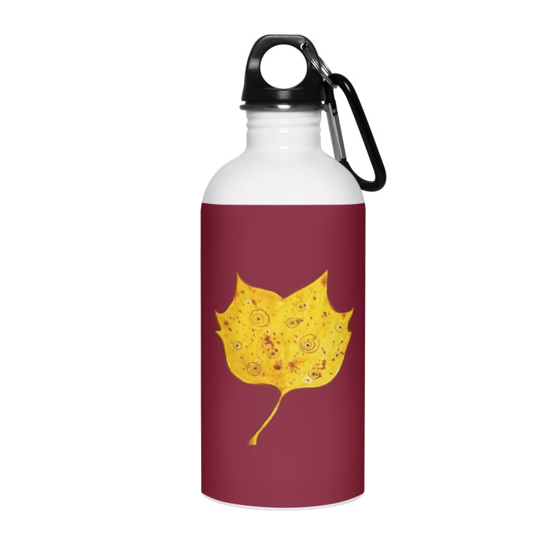 Fancy Yellow Autumn Leaf Accessories Water Bottle by Boriana's Artist Shop