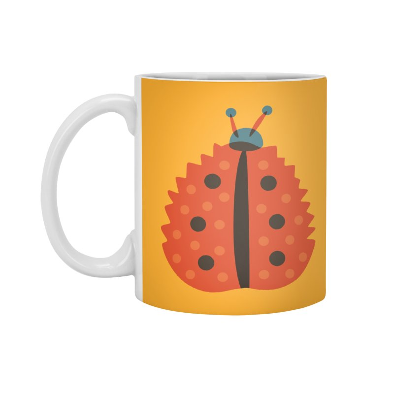 Ladybug Masked As Autumn Leaf Accessories Mug by Boriana's Artist Shop