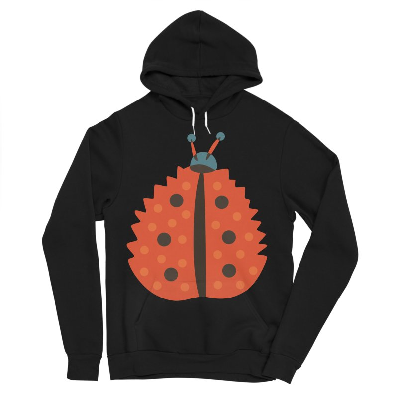 Ladybug Masked As Autumn Leaf Women's Sponge Fleece Pullover Hoody by Boriana's Artist Shop