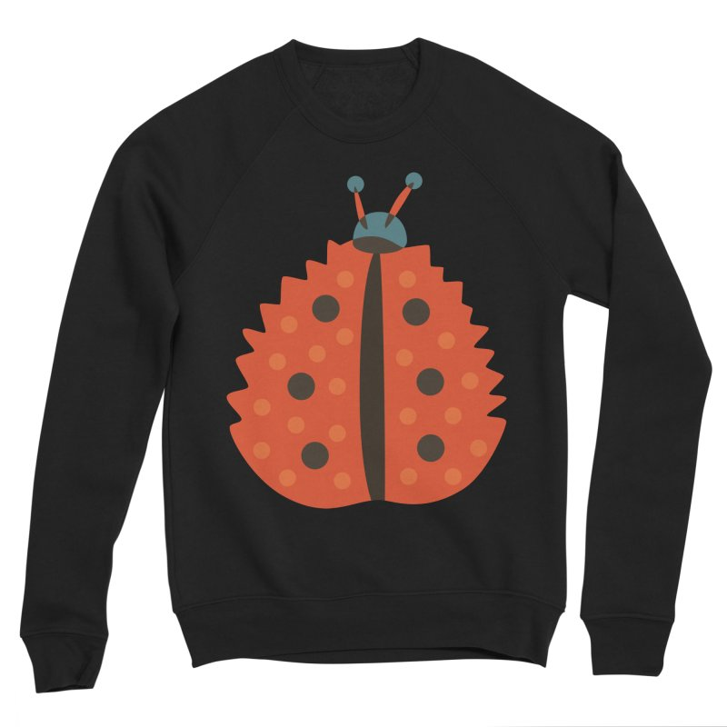 Ladybug Masked As Autumn Leaf Women's Sponge Fleece Sweatshirt by Boriana's Artist Shop