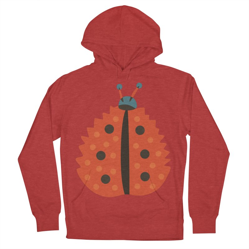 Ladybug Masked As Autumn Leaf Women's Pullover Hoody by Boriana's Artist Shop