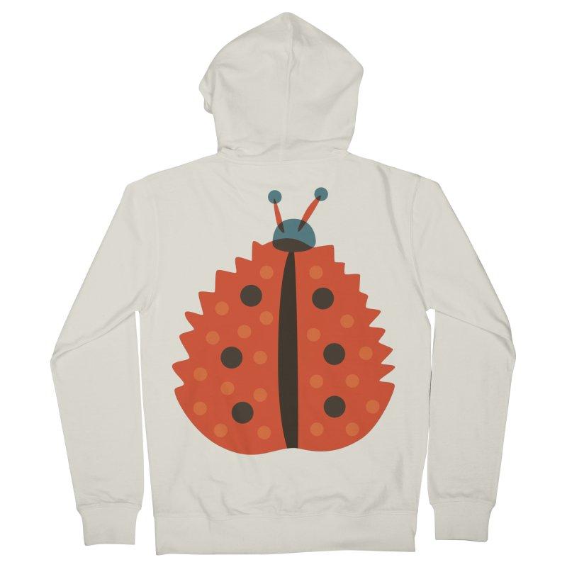 Ladybug Masked As Autumn Leaf Women's Zip-Up Hoody by Boriana's Artist Shop