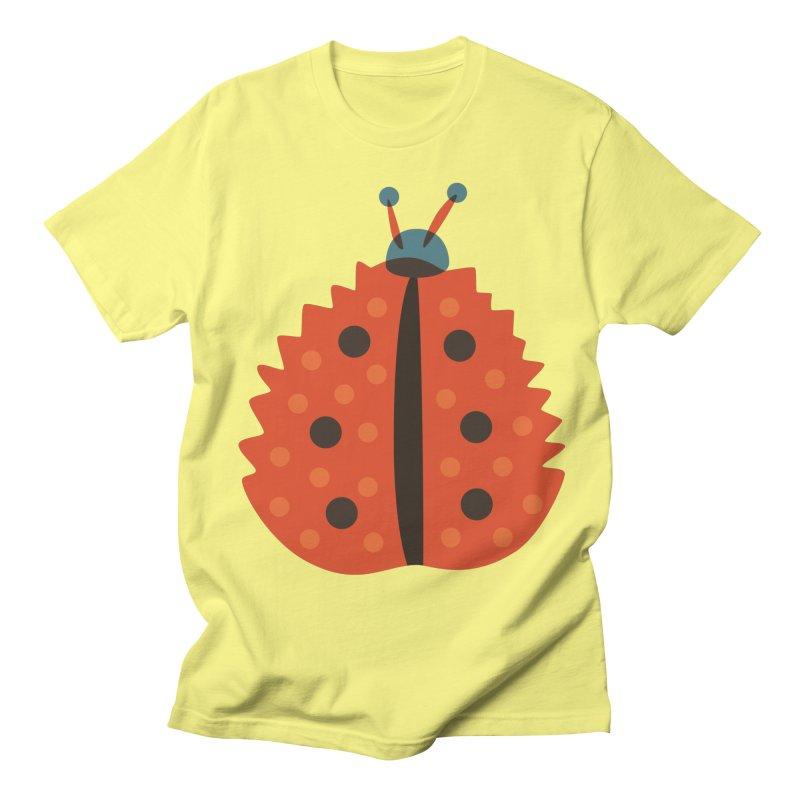 Ladybug Masked As Autumn Leaf Women's Regular Unisex T-Shirt by Boriana's Artist Shop