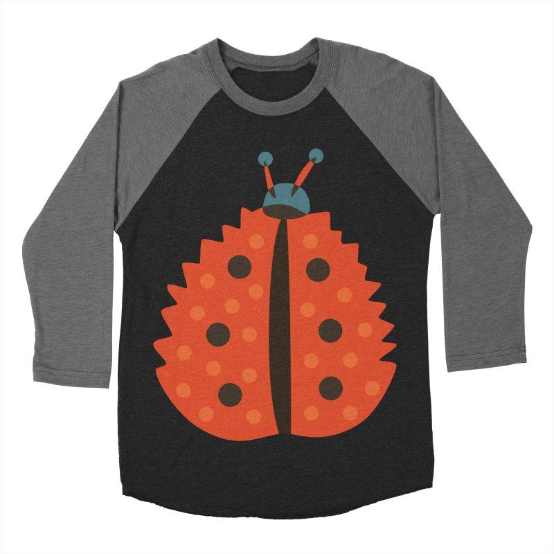Ladybug Masked As Autumn Leaf Women's Baseball Triblend Longsleeve T-Shirt by Boriana's Artist Shop