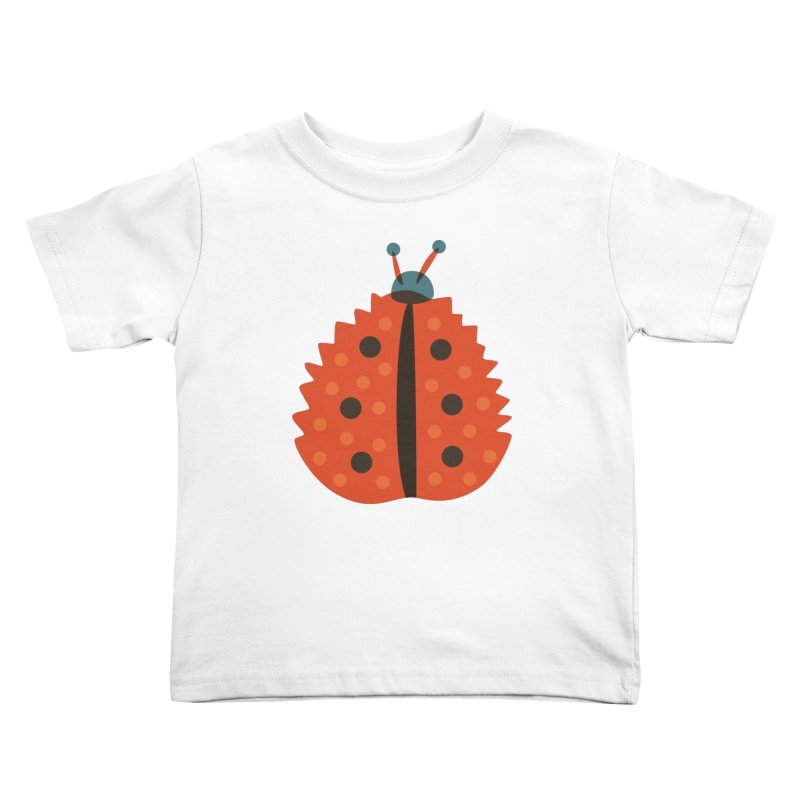 Ladybug Masked As Autumn Leaf Kids Toddler T-Shirt by Boriana's Artist Shop