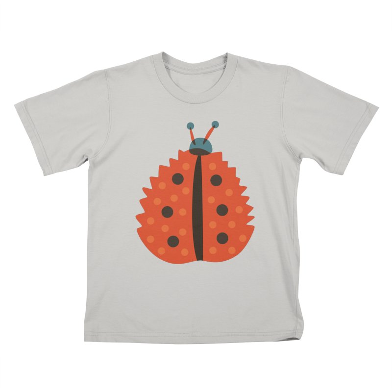 Ladybug Masked As Autumn Leaf Kids T-Shirt by Boriana's Artist Shop