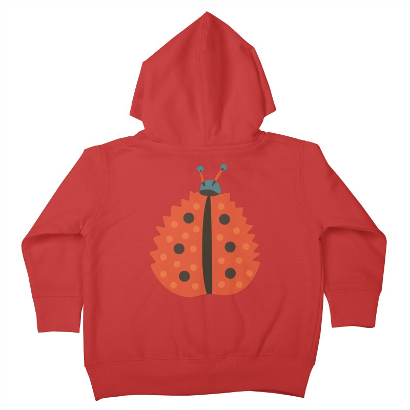 Ladybug Masked As Autumn Leaf Kids Toddler Zip-Up Hoody by Boriana's Artist Shop
