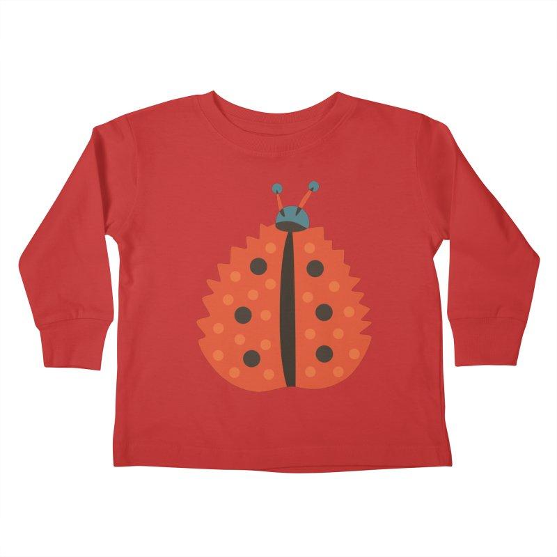 Ladybug Masked As Autumn Leaf Kids Toddler Longsleeve T-Shirt by Boriana's Artist Shop