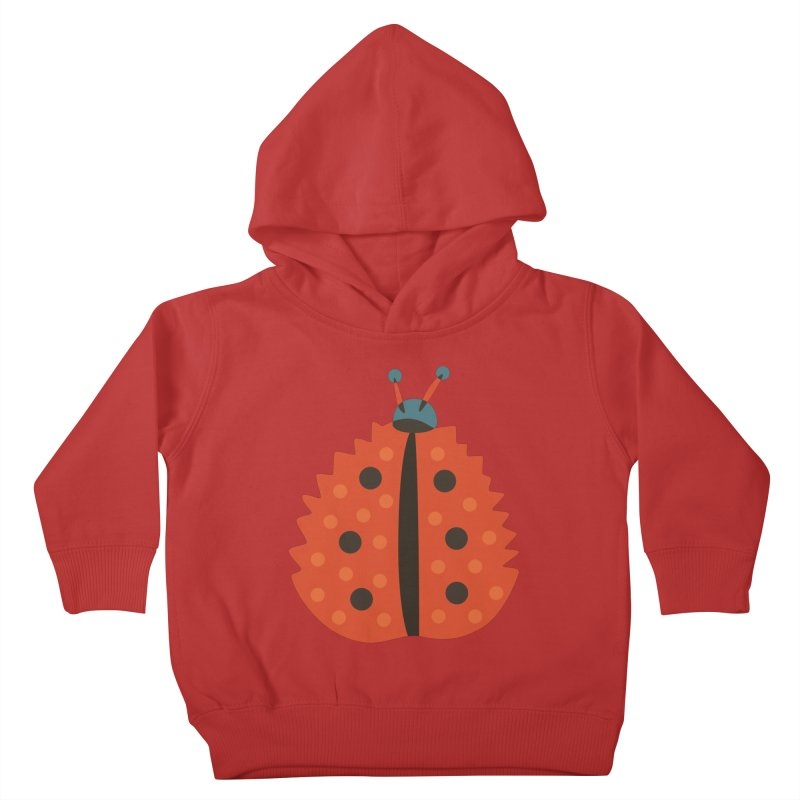 Ladybug Masked As Autumn Leaf Kids Toddler Pullover Hoody by Boriana's Artist Shop