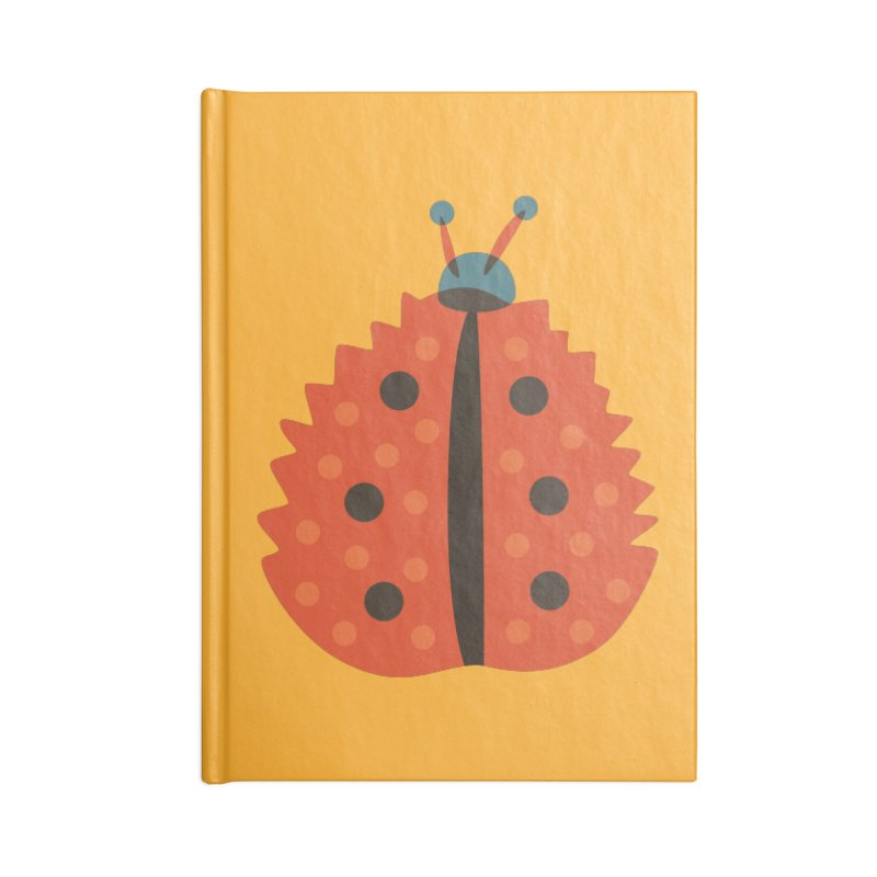 Ladybug Masked As Autumn Leaf Accessories Notebook by Boriana's Artist Shop