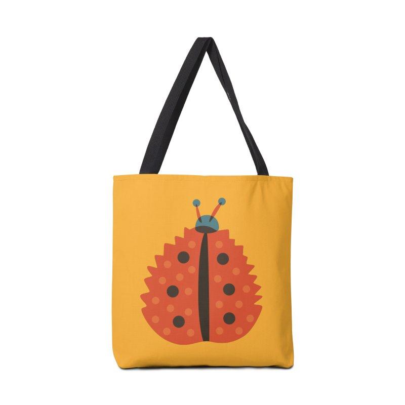 Ladybug Masked As Autumn Leaf Accessories Bag by Boriana's Artist Shop