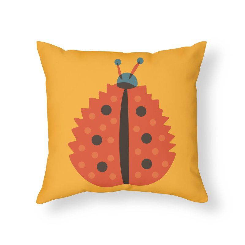 Ladybug Masked As Autumn Leaf Home Throw Pillow by Boriana's Artist Shop
